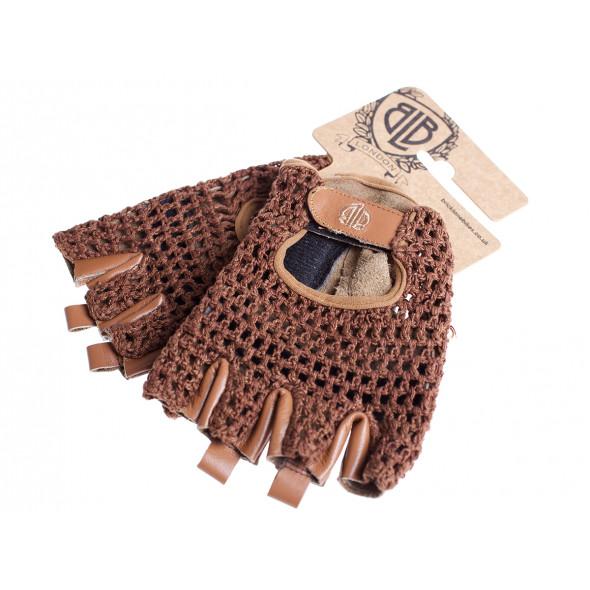 BLB kožené rukavičky hnedé L