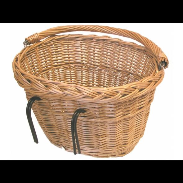 Prútený košík Basil, predný s hákmi
