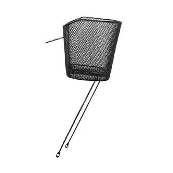 Predný kovový košík oválny, čierny