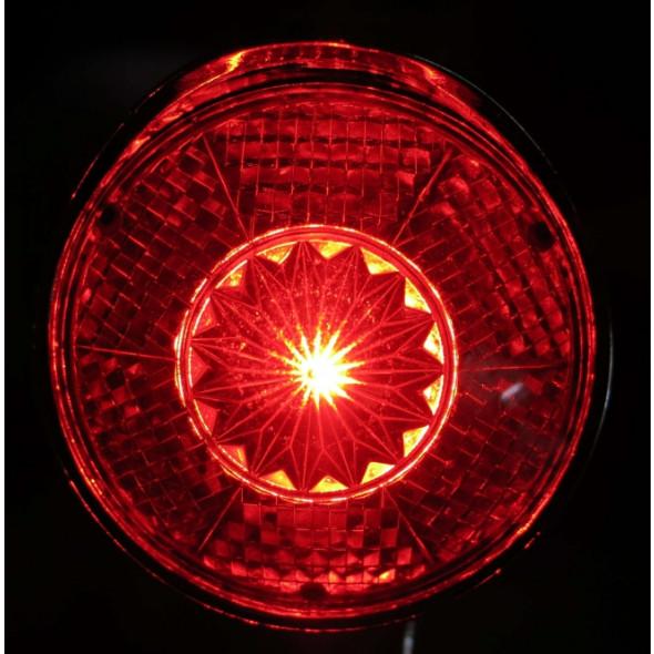 Zadné svetlo RETRO klasik chrómové