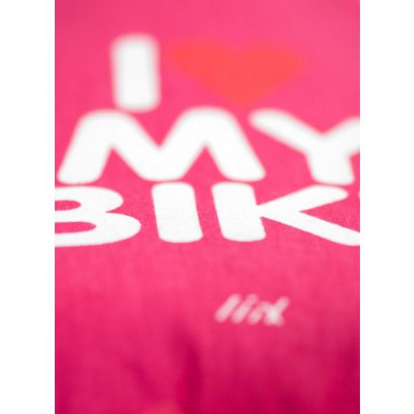 Kryt sedla Liix I love my bikes, ružový