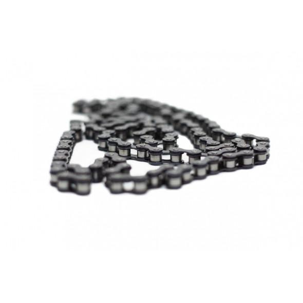 Reťaz ČZ 1/2×1/8, čierna so strieborným nitom