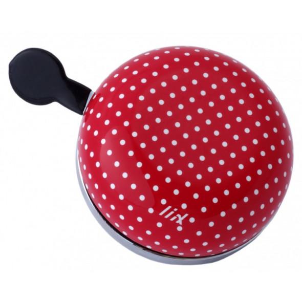 Zvonček Liix Ding Dong Polka Dot, červený