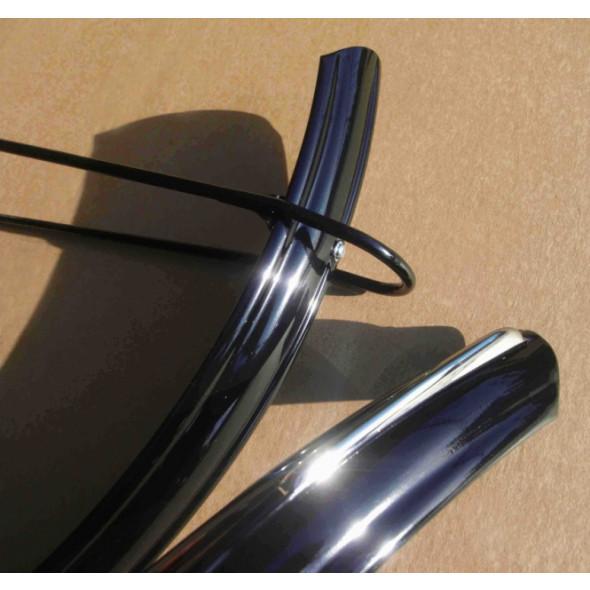 """Holandské blatníky Luxury 28"""" (635), čierne"""