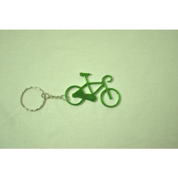 Prívesok na kľúče - bicykel, zelený