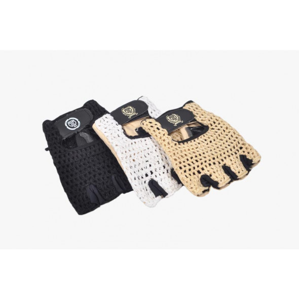 BLB kožené rukavičky biele M