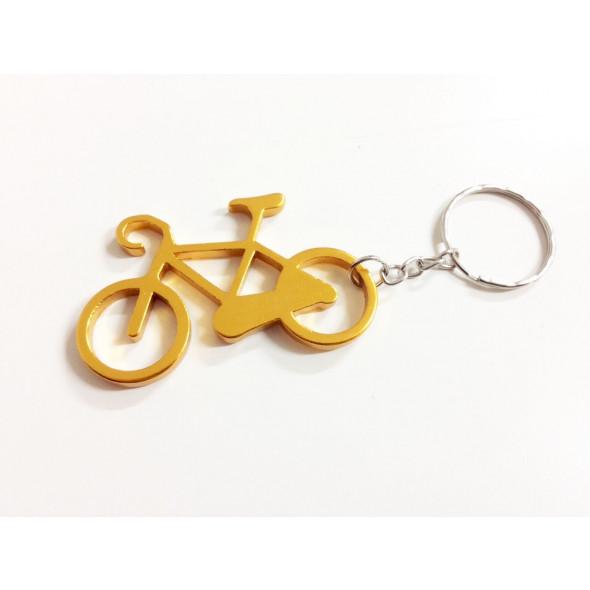 Prívesok na kľúče - bicykel, zlatý