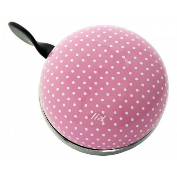 Zvonček Liix Ding Dong Polka Dots, pastelovo-ružový