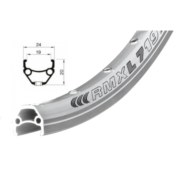 Ráfik Remerx Dragon 719, AL, strieborný elox, 622x19, 36 dier