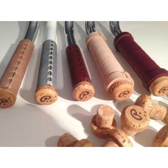Točené handmade koženné gripy, hladenica, pánske, natural
