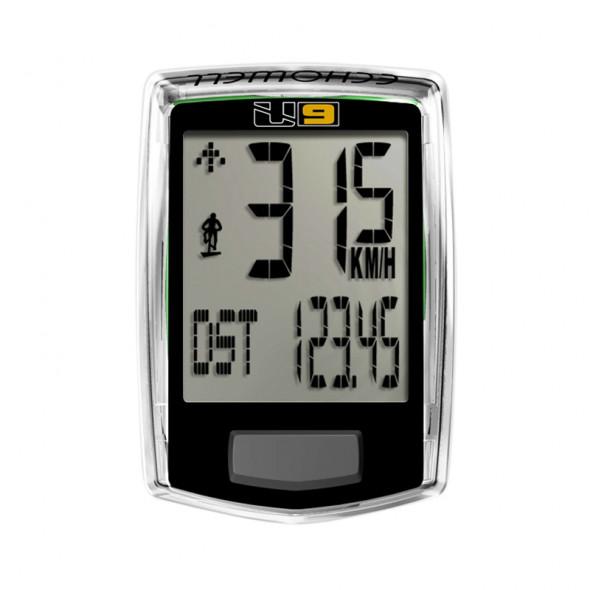 Tachometer ECHO U9, 9 funkciový, čierny