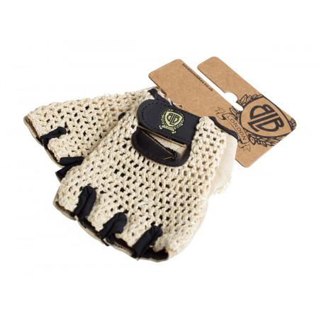 BLB kožené rukavičky krémové M