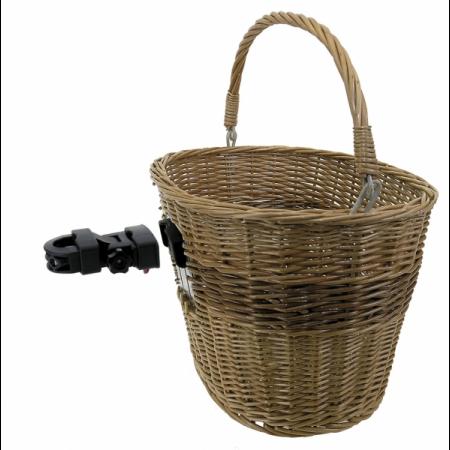 Prútený košík s držiakom