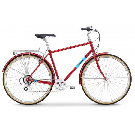 Bicykel Breezer Downtown EX ST 2020, červený
