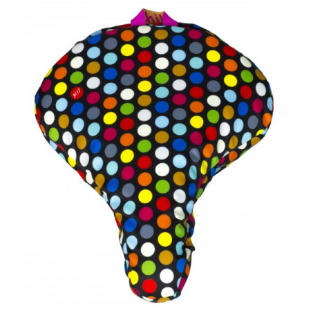 Kryt sedla Liix, Polka veľké bodky mix farieb