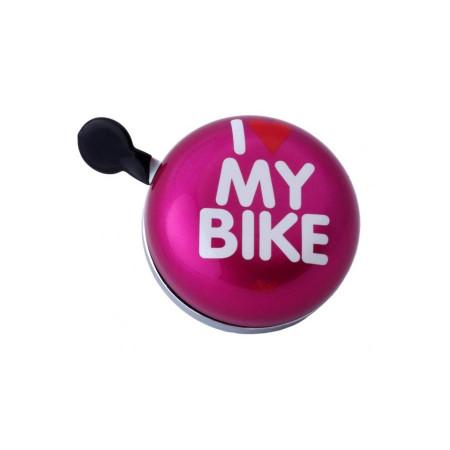 Zvonček Liix Ding Dong I love my bike Pink