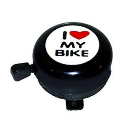 Zvonček I love my bike, čierny