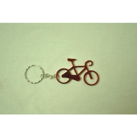 Prívesok na kľúče - bicykel, červený