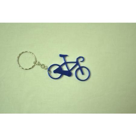 Prívesok na kľúče - bicykel, modrý