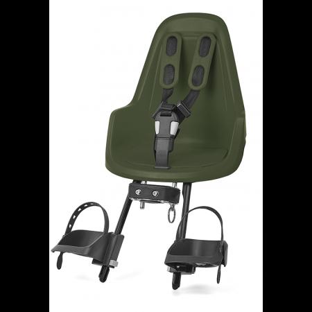 Predná detská sedačka BOBIKE mini one, olivovo-zelená