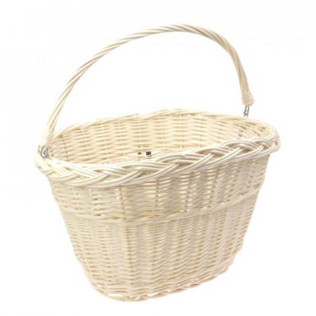 Košík na riaditká s hákmi, biely