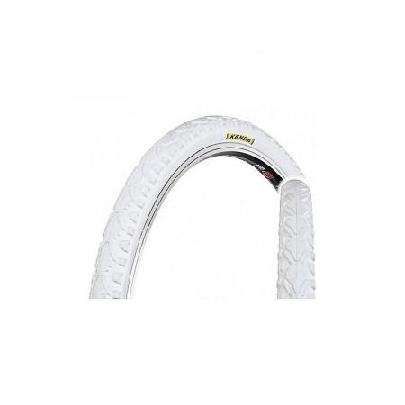 Plášť Kenda Khan 40-622 / 700x38C biely+reflexný pásik