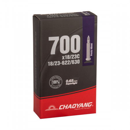 Duša Chaoyang 18/23c 622-630 Super Lite galuskový ventil
