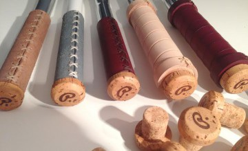Leather Grips in Pecobikes Celebrate with Champagne